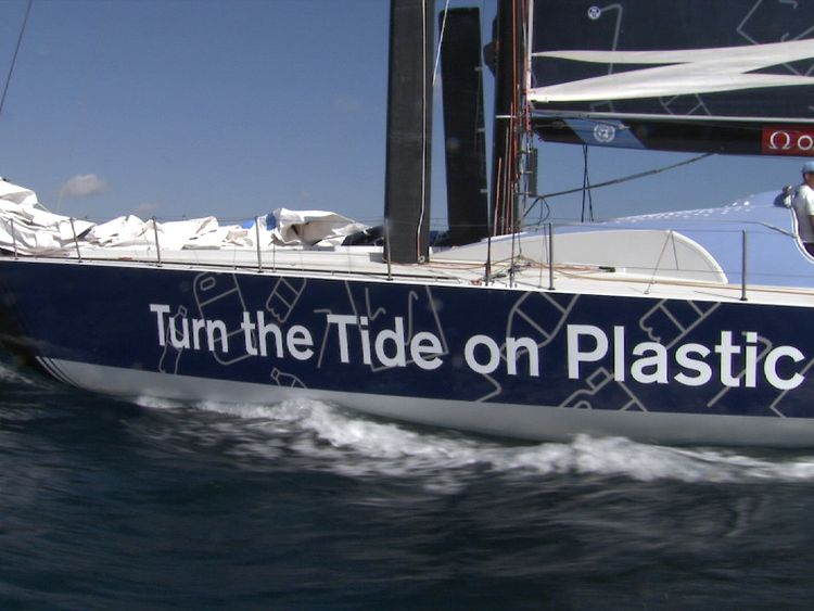 Turn the Tide on Plastic yacht is competing and aiming to highlight the damage being done to the sea by single use plastic