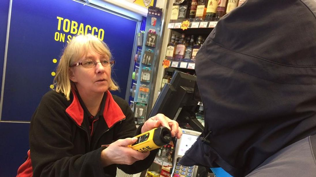 SPAR stores in Cardiff are using breathalysers on customers they suspect are intoxicated. Pic: South Wales Police Cardiff