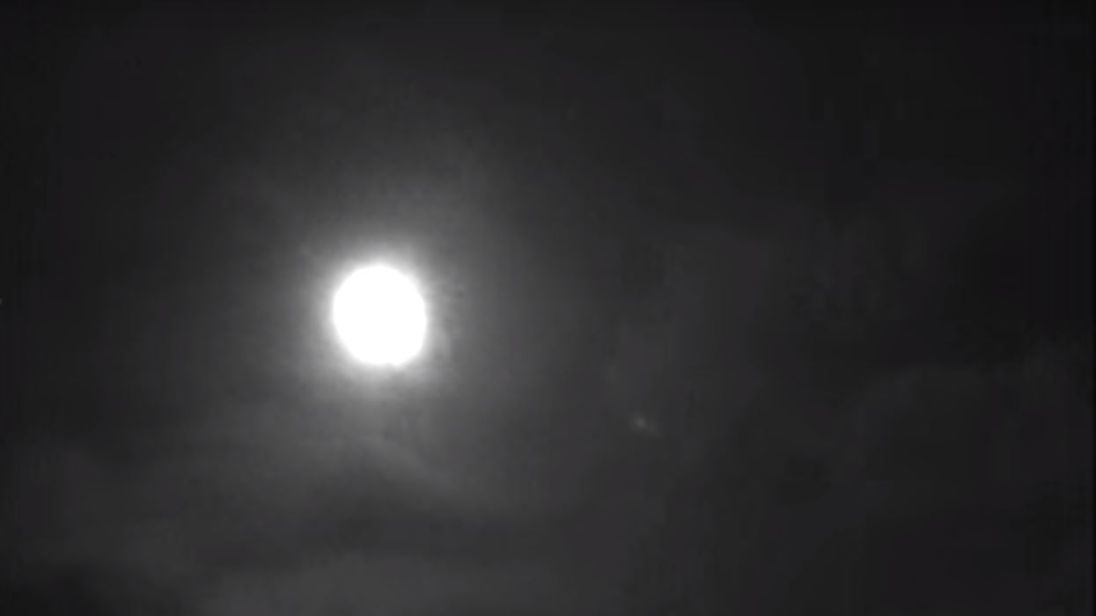 The view of the fireball approaching earth from Wilcot, Wiltshire. Picture: UKMON