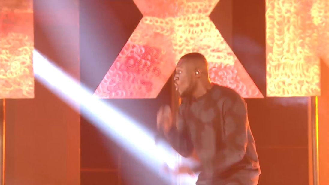Stormzy performs at the MOBO awards