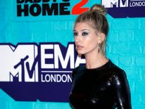 Hailey Baldwin attends the MTV EMAs 2017 held at The SSE Arena, Wembley
