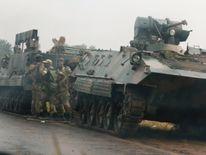 Military vehicles in Zimbabwe