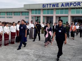 Aung San Suu Kyi has pledged to repatriate refugees who have fled to Bangladesh