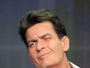 Charlie Sheen speaks onstage at an 'Anger Management' panel in 2012