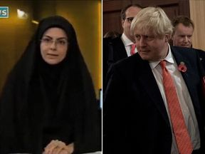 "Iranian TV has said comments by Boris Johnson ""void"" any hope a British woman will be freed early"