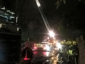 Eight fire engines were called to the blaze in Hampstead. Pic: London Fire Brigade