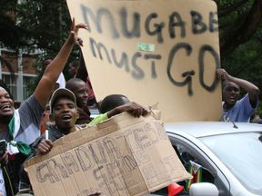 Thousands have been protesting against Robert Mugabe on the streets of Harare