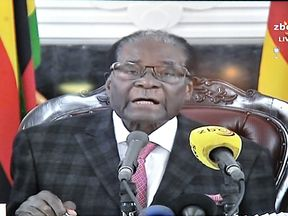 Robert Mugabe refuses to resign in speech