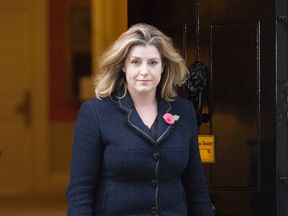 Penny Mordaunt leaving 10 Downing Street