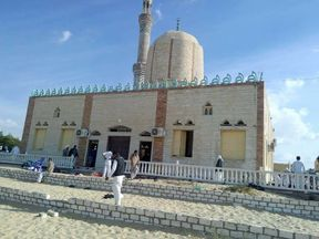 The al-Rawdah mosque targeted by Islamic extremists on Friday