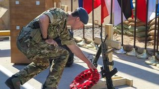Remembrance Sunday in central Baghdad. Pic: Sgt Von Marie Donato, US Army