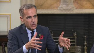 The governor of the Bank of England talks to Sky's Ed Conway about interest rates rising