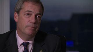 UKIP MEP Nigel Farage speaks to Sky's Lewis Goodall