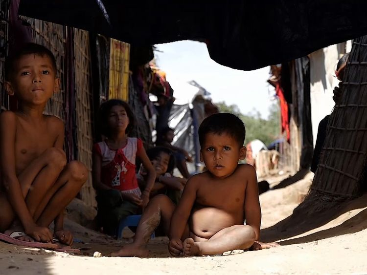 Many children in the Rohingya refugee camp have lost their parents and families
