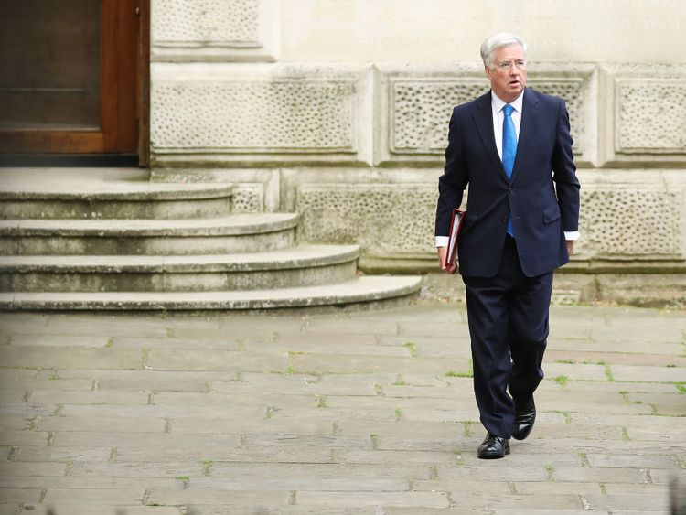 Sir Michael Fallon has resigned as Defence Secretary
