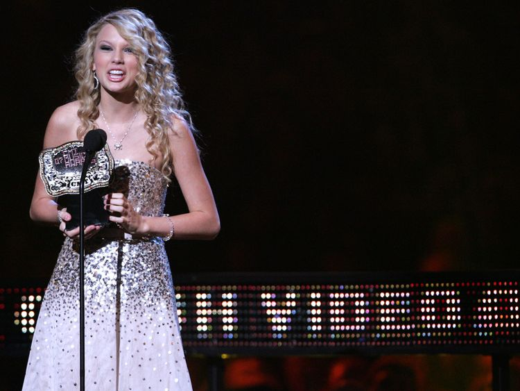 Taylor in 2007, when she was seen as the sweet girl of country music
