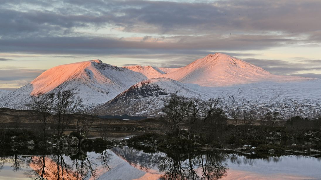 A view of Glen Coe on 1 December: Scotland could get a fresh dump of snow in the coming days