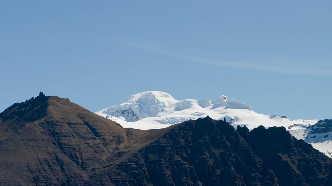 The Oraefajokull volcano is part of Iceland's Skaftafell National Park