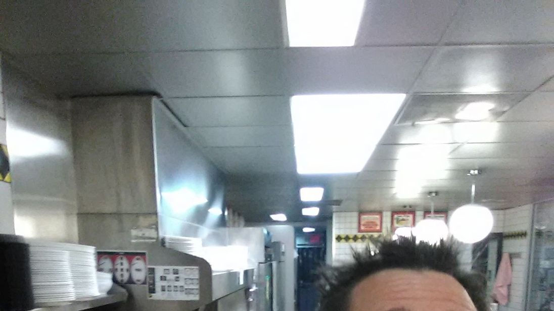 Alex Bowen took matters into his own hands on finding Waffle House. Pic. Alex Bowen Facebook