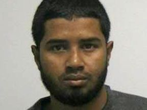 HEADLINE:Handout photo of Akayed Ullah, a Bangladeshi man who attempted to detonate a homemade bomb strapped to...