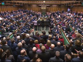 Opposition MPs celebrate the Government's defeat on the EU Withdrawal Bill