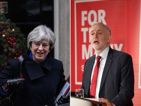 Theresa May and Jeremy Corbyn released their 2017 Christmas messages