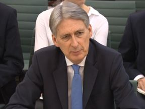 Chancellor of the Exchequer Philip Hammond answering questions in front of the Treasury Select Committee at the House of Commons, London on the subject of the Budget. PRESS ASSOCIATION Photo. Picture date: Wednesday December 6, 2017.