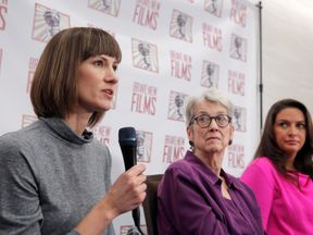 L/R: Rachel Crooks, Jessica Leeds and Samantha Holvey speak out against Donald Trump