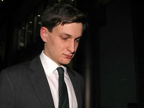 Samuel Armstrong leaves Southwark Crown Court in London