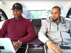 Skepta (left) appearing in the promotional video for Rolls-Royce