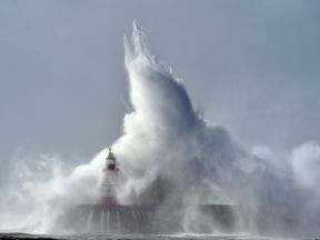 Storm Caroline is set to bring 90mph winds to the UK
