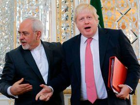 Boris Johnson and Mohammed Javad Zarif met in Tehran