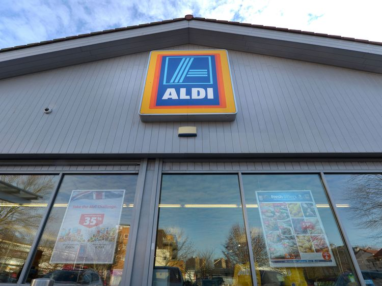 Generic file photo of Aldi supermarket
