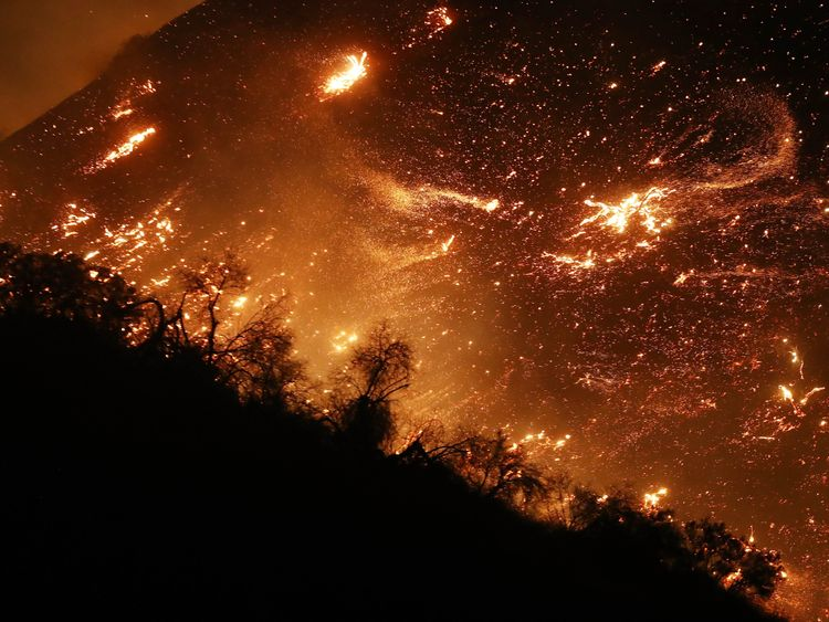 The Thomas Fire has destroyed 65,000 acres of land and forced 27,000 people to flee their homes in Ventura County, north of Los Angles