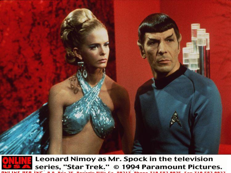 leonardnimoy_20000529_09701.jpg 371862 03: Leonard Nimoy as Mr. Spock in the television series, 'Star Trek.'