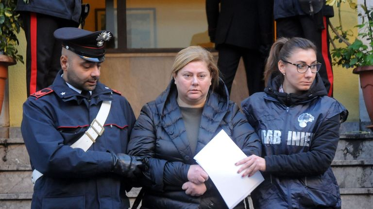 Maria Angela Di Trapani is suspected of of being the mastermind behind a reshuffle of the Sicilian Mafia following the death of 'boss of bosses' Toto Riina