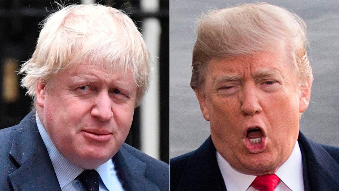 Boris Johnson and Donald Trump