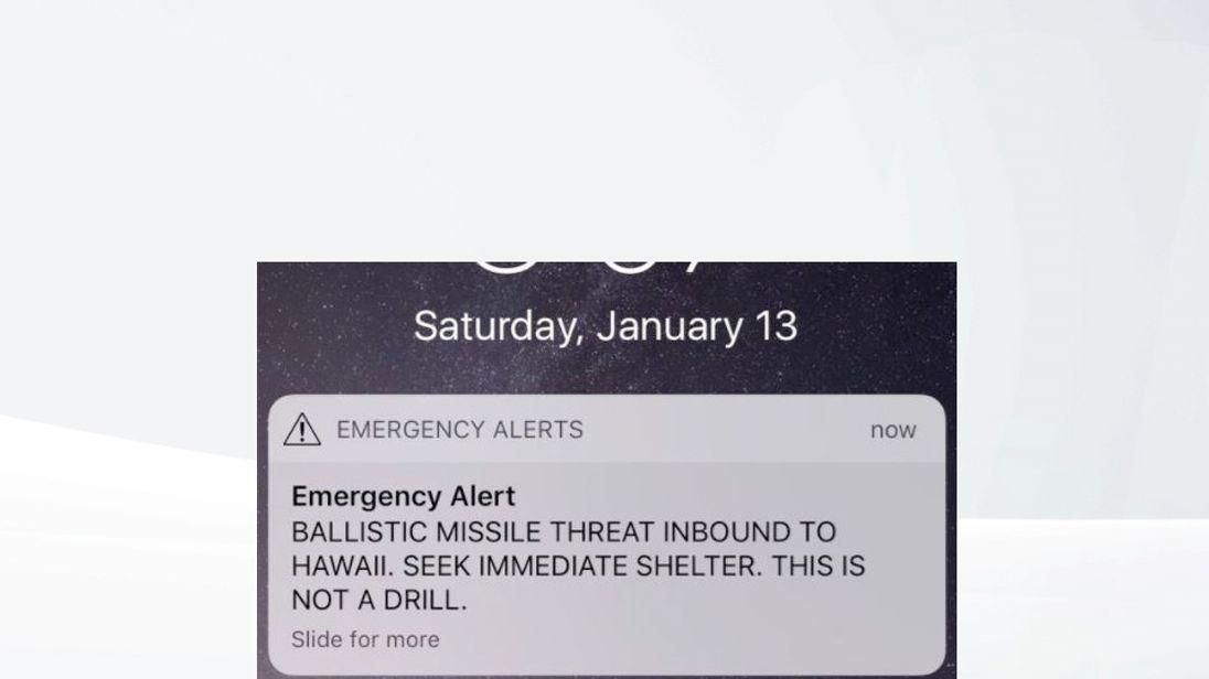 Alert for false alarm missile threat