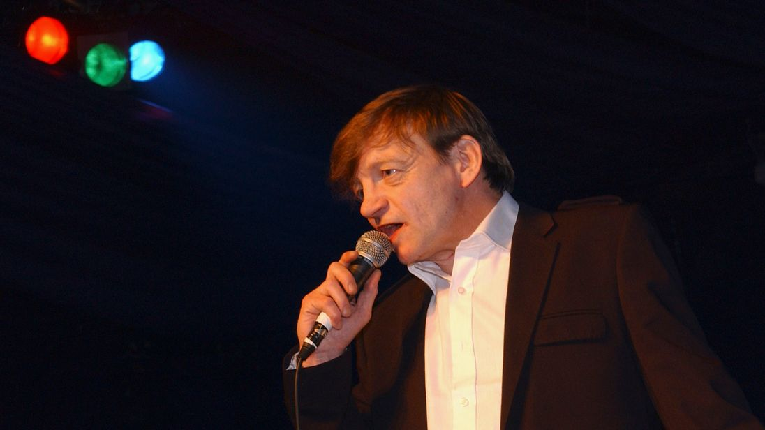 Mark E Smith performing at the Hammersmith Palais in 2007