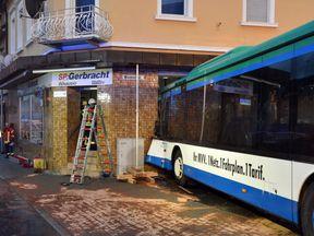 Germany school bus crash into shop