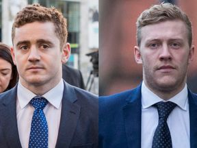 Paddy Jackson (left) and Stuart Olding deny the charges against them