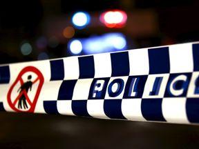 Police tape in Sydney