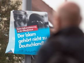 AfD ran a campaign which included slogan such as: Islam does not belong in Germany
