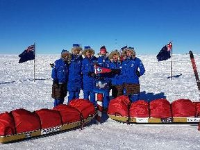 The team had to brave temperatures of minus 40C