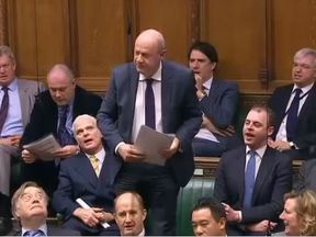 Damian Green was cheered as he spoke in the House of Commons