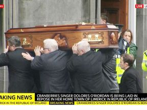 Coffin of Dolores O'Riordan
