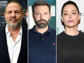 Harvey Weinstein, Ben Affleck and Rose McGowan