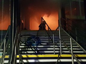 Inside the station. Pic: @nottsfire