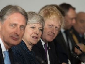 Philip Hammond, Theresa May and Boris Johnson