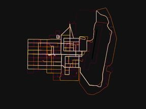 Helmand province in Afghanistan. Pic. Strava heatmap